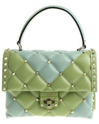 Valentino - Light Blue And Green Candystud Bag - Lyst