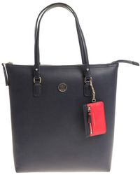Tommy Hilfiger - Blue And Red Reversible Love Tommy Bag - Lyst