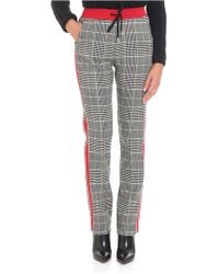 Ermanno Scervino - Prince Of Wales Trousers With Red Inserts - Lyst