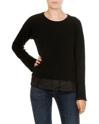 Jucca - Black Pullover With Technical Fabric Insert - Lyst