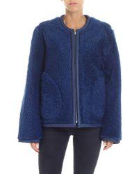 Sofie D'Hoore - Reversible Blue Shearling Coat - Lyst