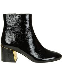 addee41f851 Lyst - Tory Burch Cidnay Suede Ankle Boots in Black