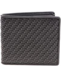 Ermenegildo Zegna - Black Braided Wallet - Lyst
