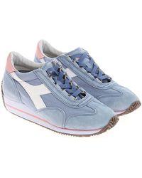 Diadora - Light-blue Equipe Trainers - Lyst