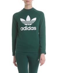 adidas - Originals Trefoil Sweatshirt In Green - Lyst