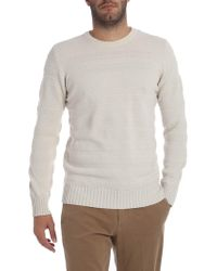 Paolo Pecora - Knitted Tricot-effect Ivory Pullover - Lyst