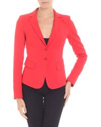 Patrizia Pepe - Red Jacket With Notch Lapels - Lyst
