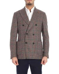 Lardini - Prince Of Wales Brown And Green Jacket - Lyst