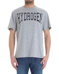 Hydrogen - Gray T-shirt With Logo - Lyst