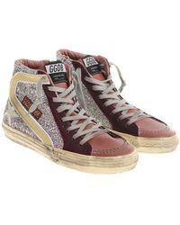 Golden Goose Deluxe Brand - Glittered Slide Sneakers - Lyst