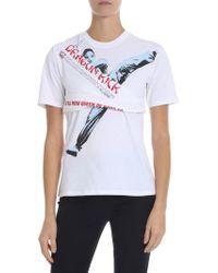"""KENZO - White """"dragon Kick"""" T-shirt - Lyst"""