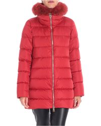 Herno - Red Polar Tech Down Jacket With Removable Insert - Lyst