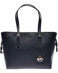 Michael Kors - Medium Voyager Tote Bag In Blue Admiral Leather - Lyst