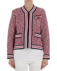 Karl Lagerfeld - Karl Captain Cardigan In Tweed - Lyst