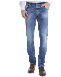Dondup - Jeans Ritchie blu destroyed - Lyst