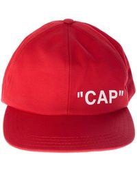 6a6d38b59ef Lyst - Off-White C O Virgil Abloh Quote Baseball Cap in Black for Men