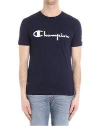 Paolo Pecora - Blue T-shirt (champion Collaboration) - Lyst