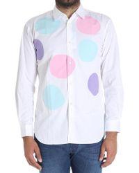 Comme des Garçons - White Macro Polka Dot Shirt - Lyst