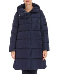 Add - Blue Hooded Down Jacket - Lyst