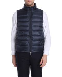 Herno - Reversible Blue And Green Waistcoat - Lyst