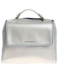 Orciani - Silver Sveva Shoulder Bag - Lyst