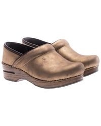 Dansko - Bronze Metallic Leather Clogs - Lyst