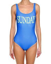 Alberta Ferretti - Light Blue Lycra Sunday Swimsuit - Lyst