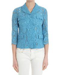 Twin Set - Light Blue Lace Jacket - Lyst