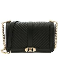 Rebecca Minkoff - Chevron Quilted Love Black Bag - Lyst