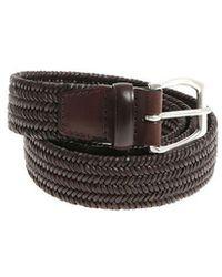 Orciani - Dark Brown Leather Elastic Belt - Lyst