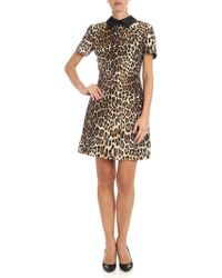 Jucca - Animalier Short Dress - Lyst