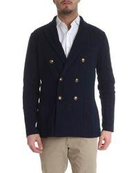 Lardini - Cardigan effetto giacca doppiopetto - Lyst