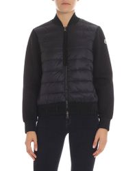 Moncler - Black Technical Fabric Cardigan - Lyst