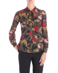 Twin Set - Floral Camouflage Shirt - Lyst