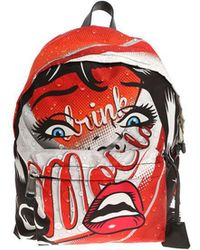 Moschino - Red Printed Backpack - Lyst