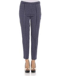 Michael Kors - Blue Checked Trousers - Lyst