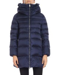 Add - Blue High-necked Down Jacket - Lyst
