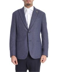 Lardini - Blue Knitted Fabric Two-button Jacket - Lyst