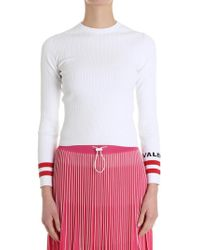 Valentino - Ribbed Sweater - Lyst