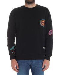 Paul Smith - Black Sweatshirt With Patches - Lyst