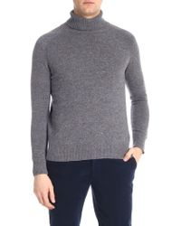 Paolo Pecora - Speckle Grey Turtleneck Sweater - Lyst