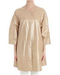 Desa - Golden Leather Coat - Lyst