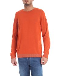 Jurta - Orange And Mud Color Reversible Pullover - Lyst