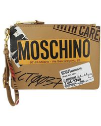 Moschino - Leather Pouch - Lyst
