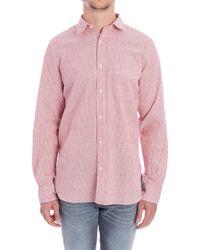 Aspesi - Seersucker Shirt - Lyst