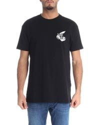 Vivienne Westwood Anglomania - Black Crewneck T-shirt With Logo - Lyst