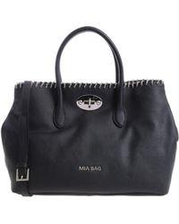 Mia Bag - Black Bag With Braided Chain - Lyst
