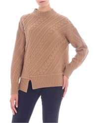 "Weekend by Maxmara - Camel-colored ""grolla"" Pullover - Lyst"