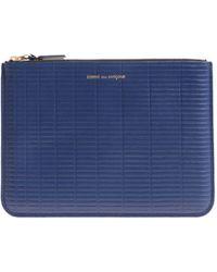 Comme des Garçons - Blue Briefcase With Laminated Logo Print - Lyst