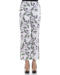 Blumarine - White Anemone Print Trousers - Lyst
